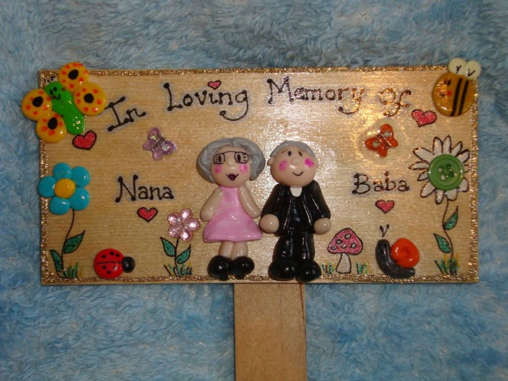 3d Personalised 2 Character In Loving Memory Of Memorial Sign Garden Crematorium Grave Plaque Handmade